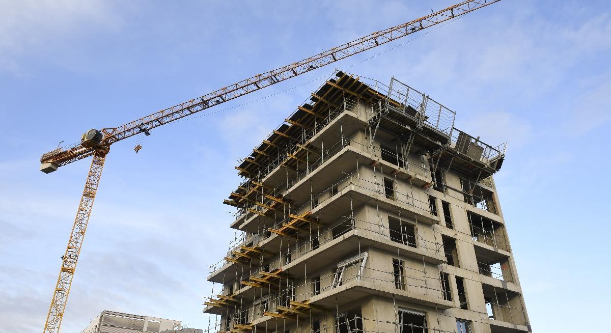 immobilier, une progression de construction